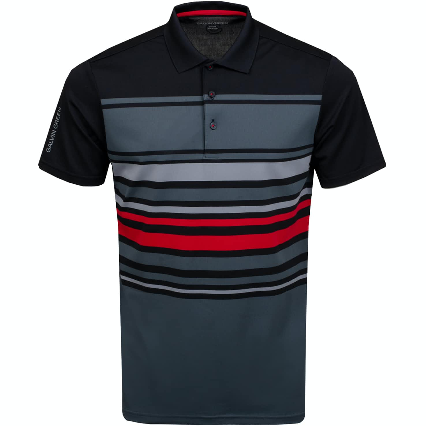 Miguel Ventil8+ Polo Iron Grey/Black/Red - AW19
