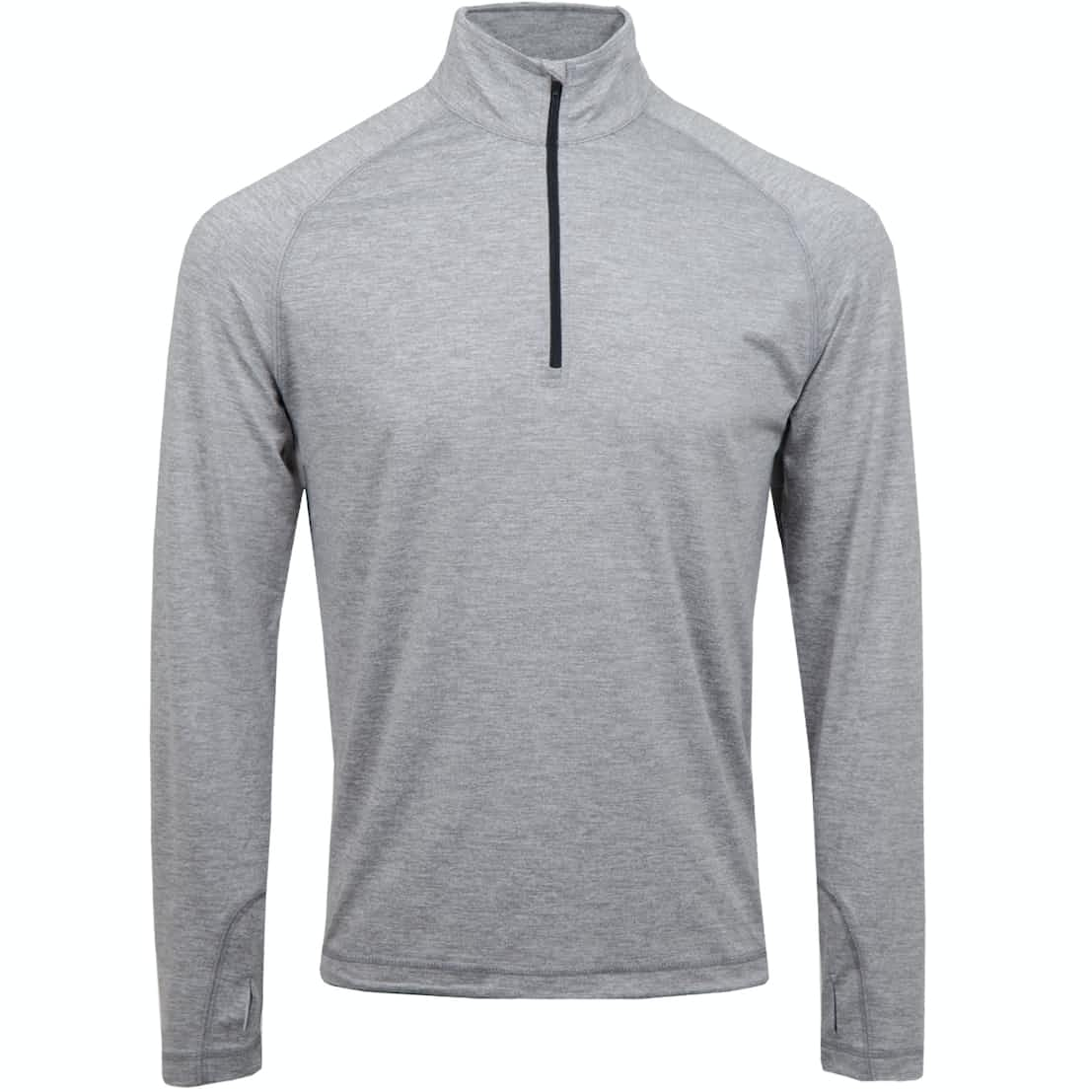 Performance Quarter Zip Heathered Mid Grey Heather - 2020