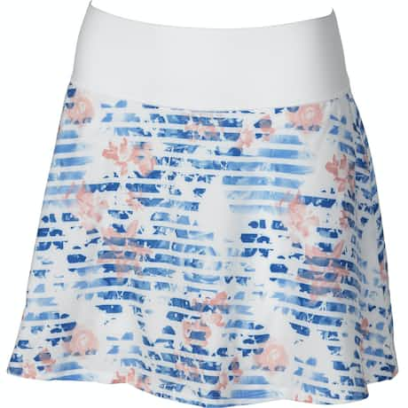 Womens PWRSHAPE Floral Skirt Bright White - AW19