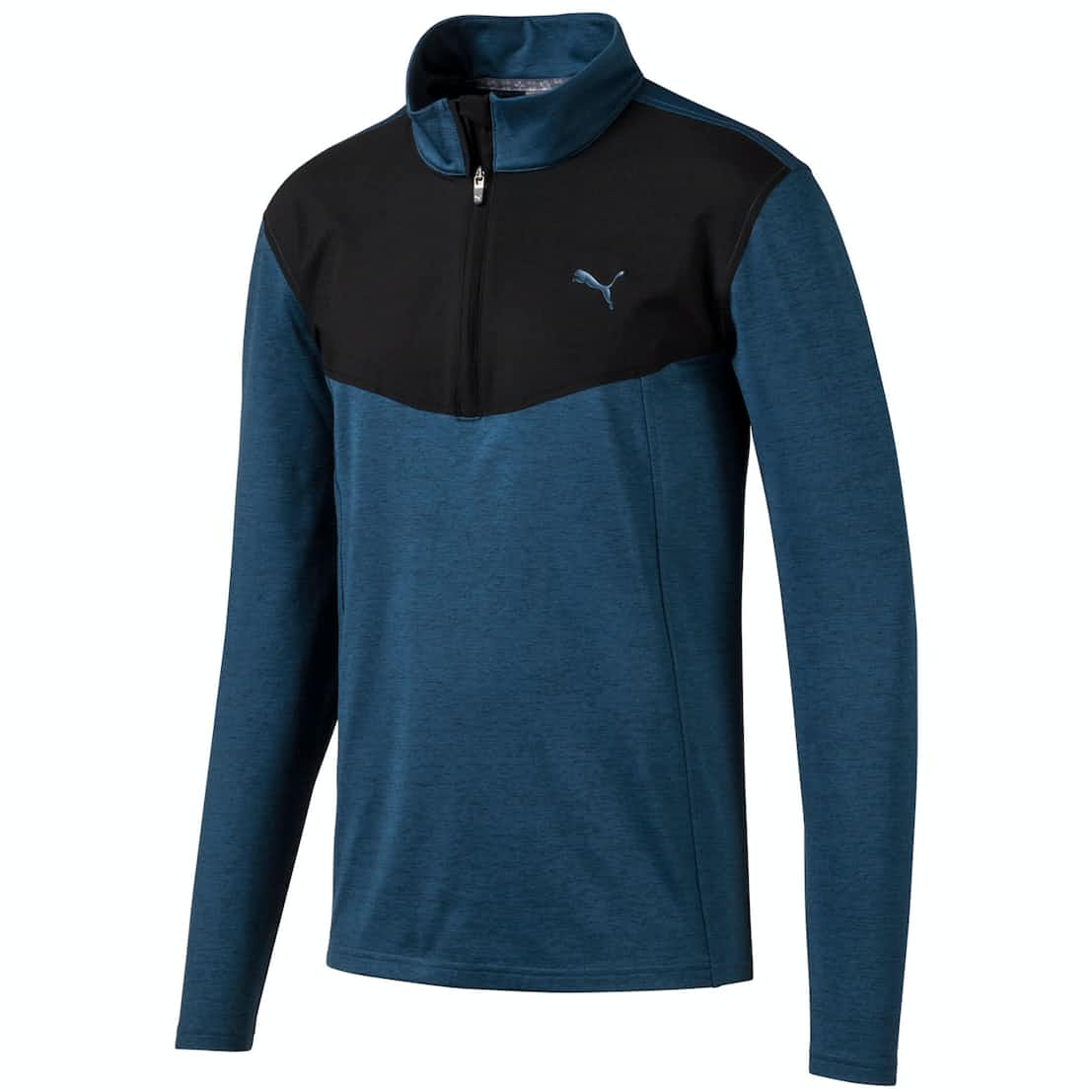 Preston CL Quarter Zip Gibraltar Sea Heather - AW19