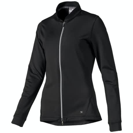 Womens Full Zip Knit Jacket Black - AW19