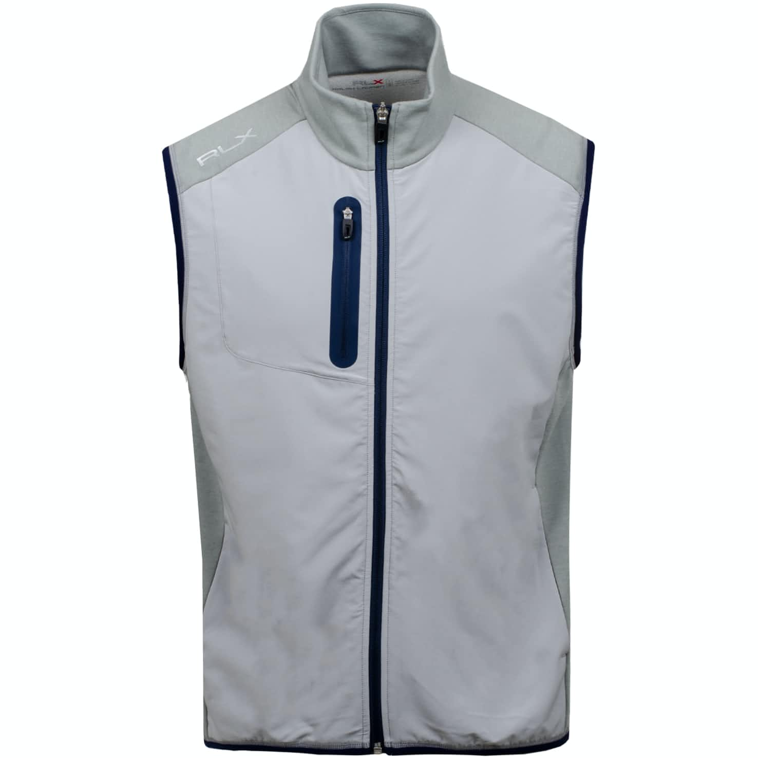 Tech Terry Full Zip Vest Andover Heather - AW19