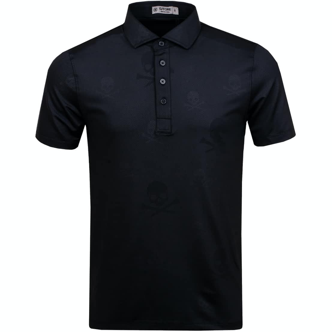 Skull & T's Embossed Polo Onyx - AW19