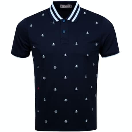 Skull & T's Embroidered Polo Twilight - AW19