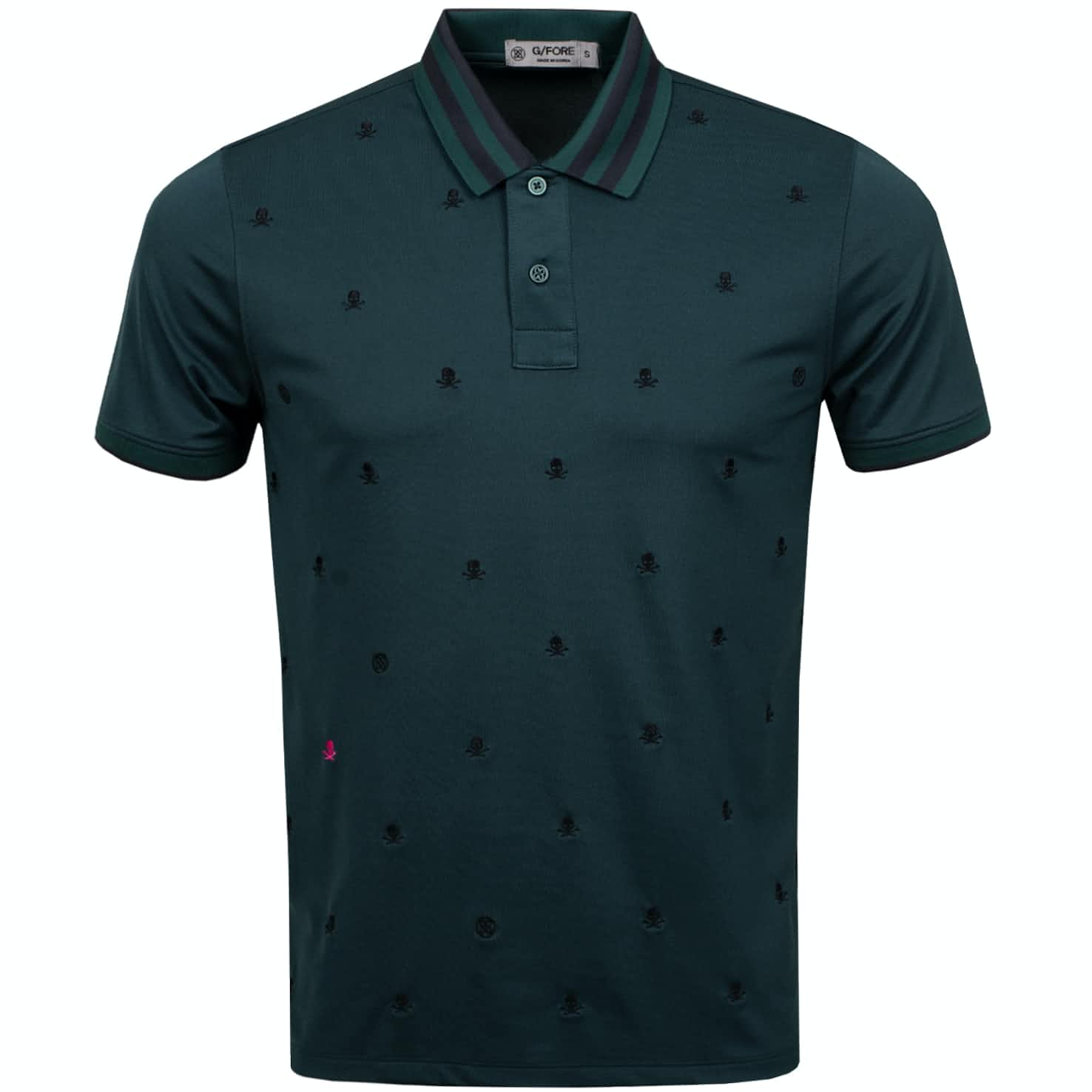 Skull & T's Embroidered Polo Pine - AW19