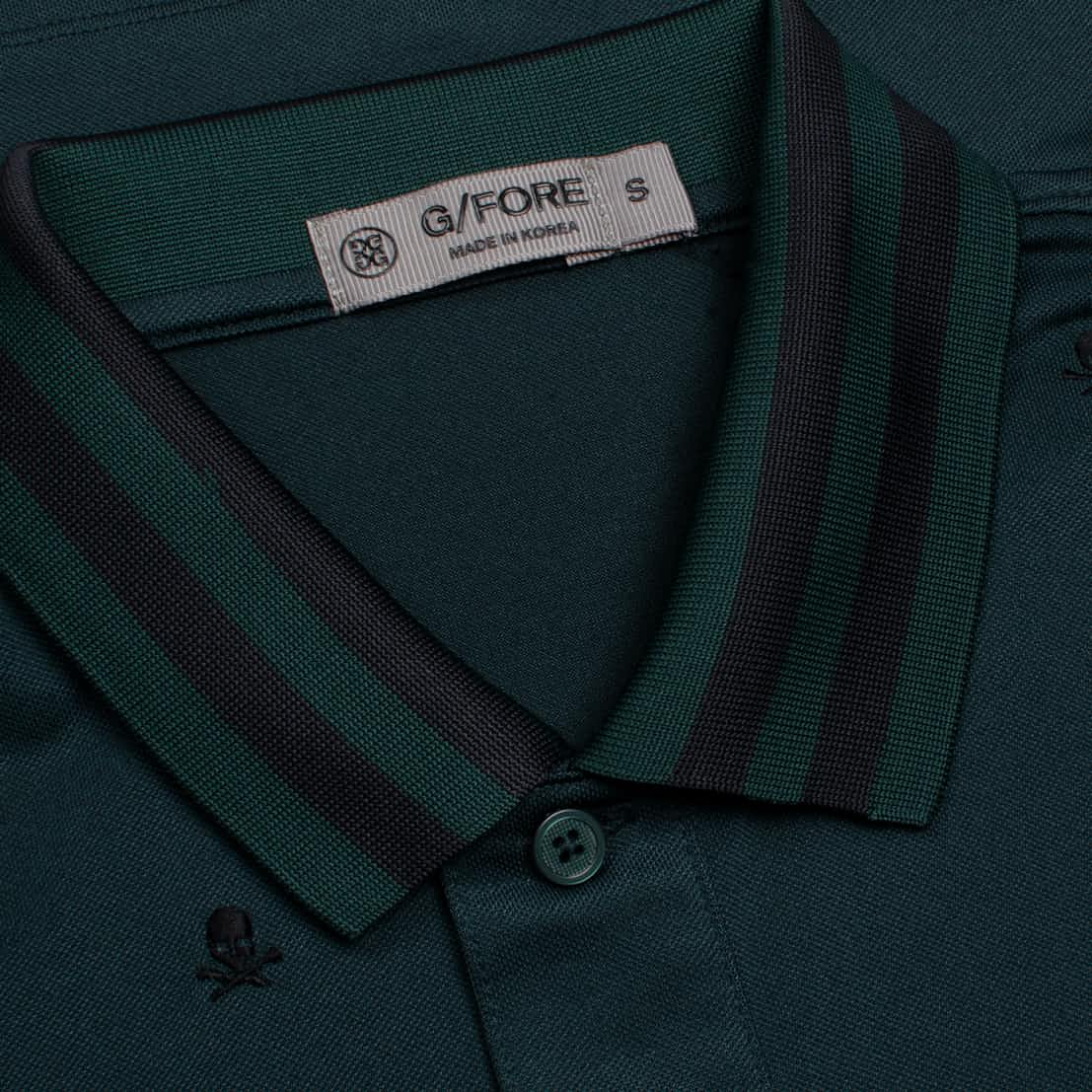 G/FORE Skull & T's Embroidered Polo Pine   Polo Shirts ...