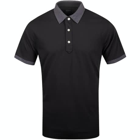 Dunnet Natural Hand Golf Polo Black/Dark Charcoal Heather - AW19
