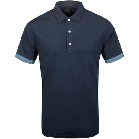 Dunnet Natural Hand Golf Polo Halo/Fragment Heather - AW19