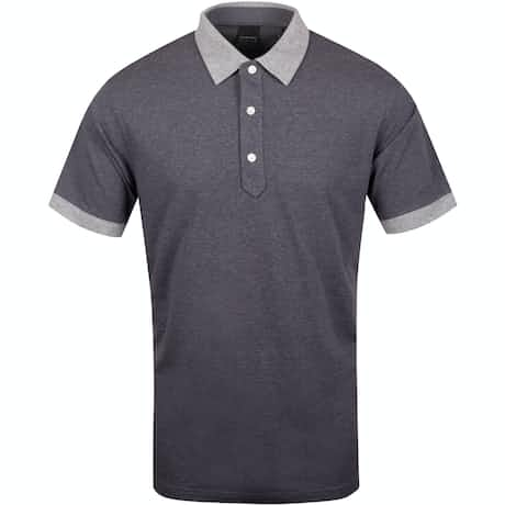 Dunnet Natural Hand Golf Polo Dark Charcoal Heather/Grey - AW19
