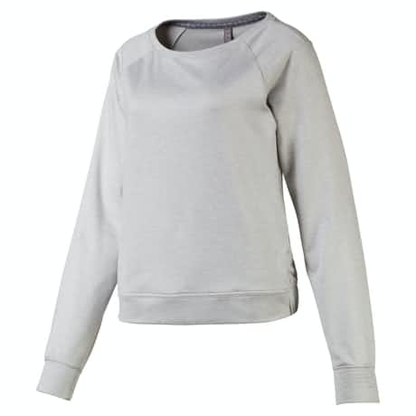 Womens Crewneck Fleece Light Grey Heather - AW19