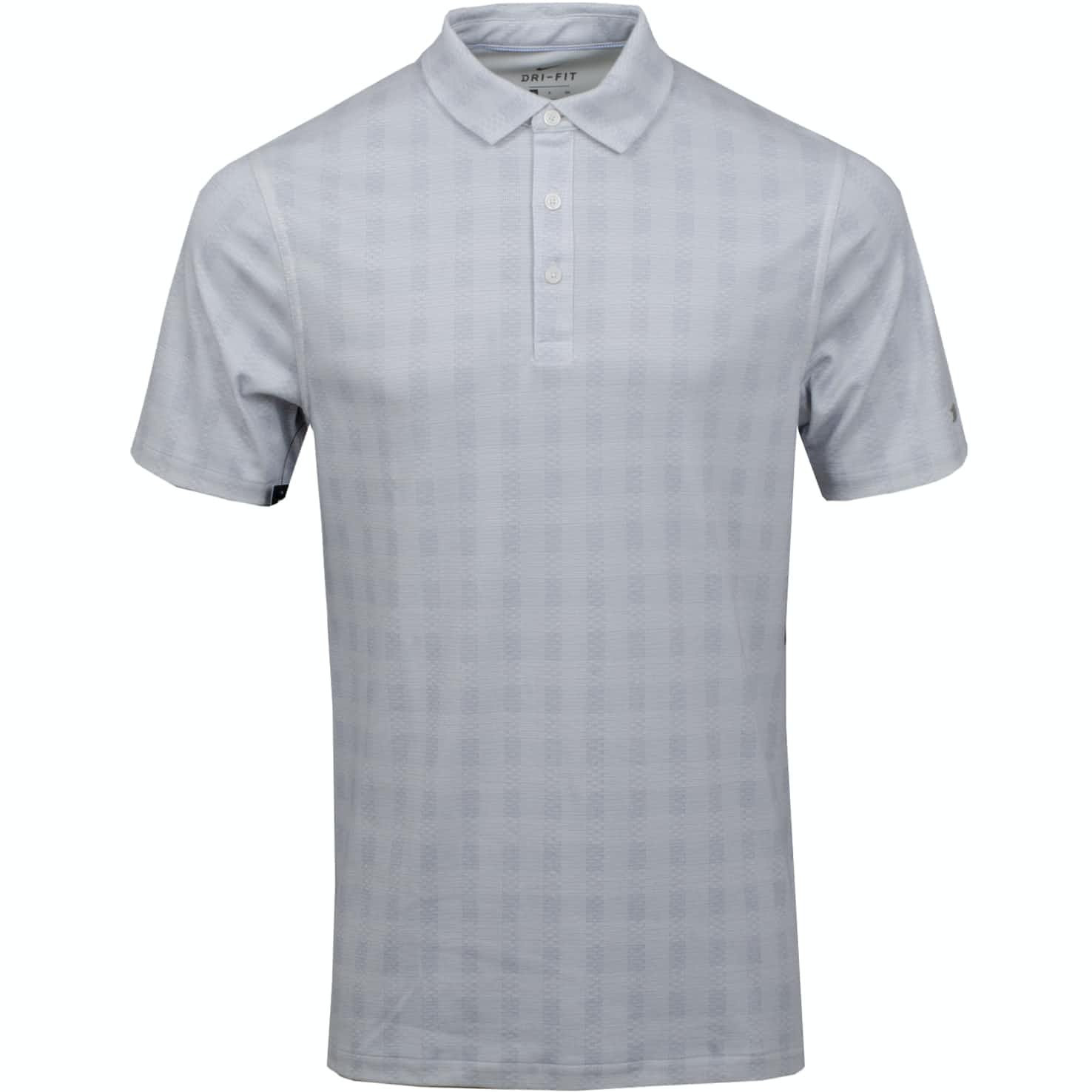 Dry Player Plaid Polo Wolf Grey/White - AW19