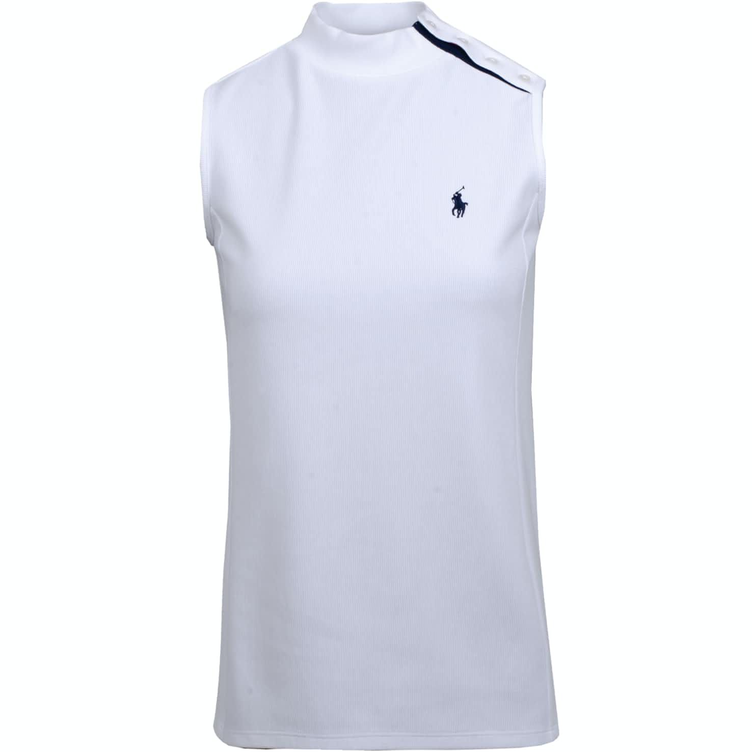 Womens SL Mockneck Top Pure White - AW19