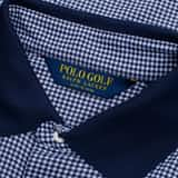 Printed Luxe Jersey Gingham Navy - AW19