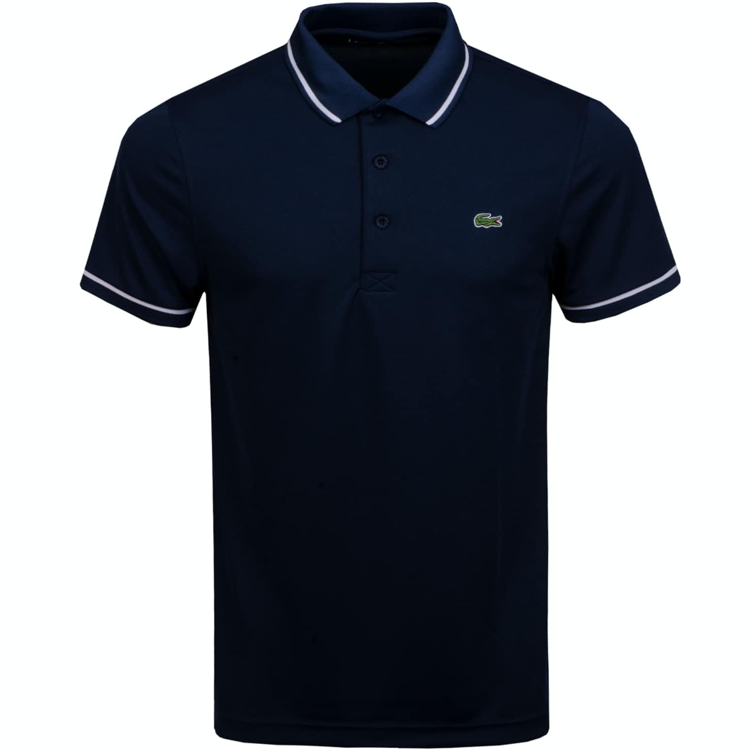 Technical Tipped Ultra Dry Pique Polo Navy - AW19