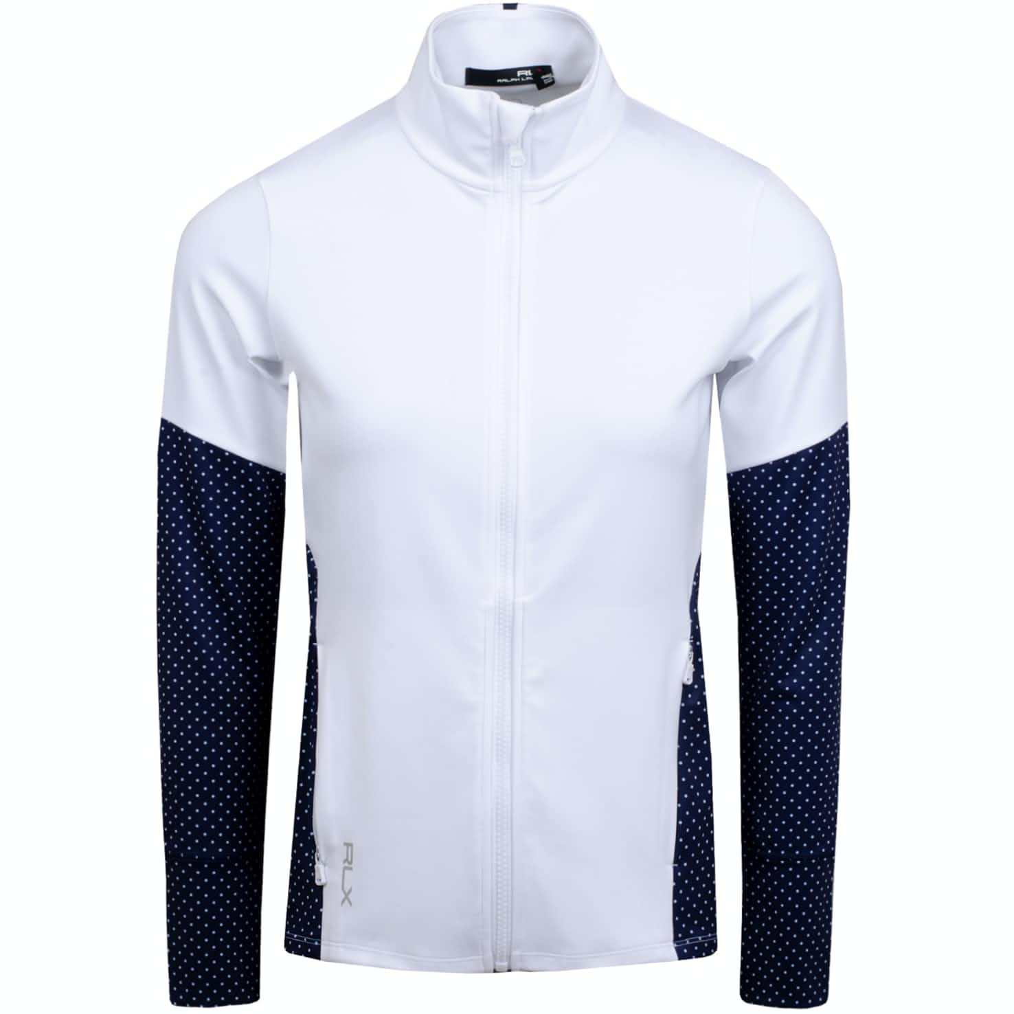 Womens Powerstretch Jersey Pure White/Navy Dot - AW19