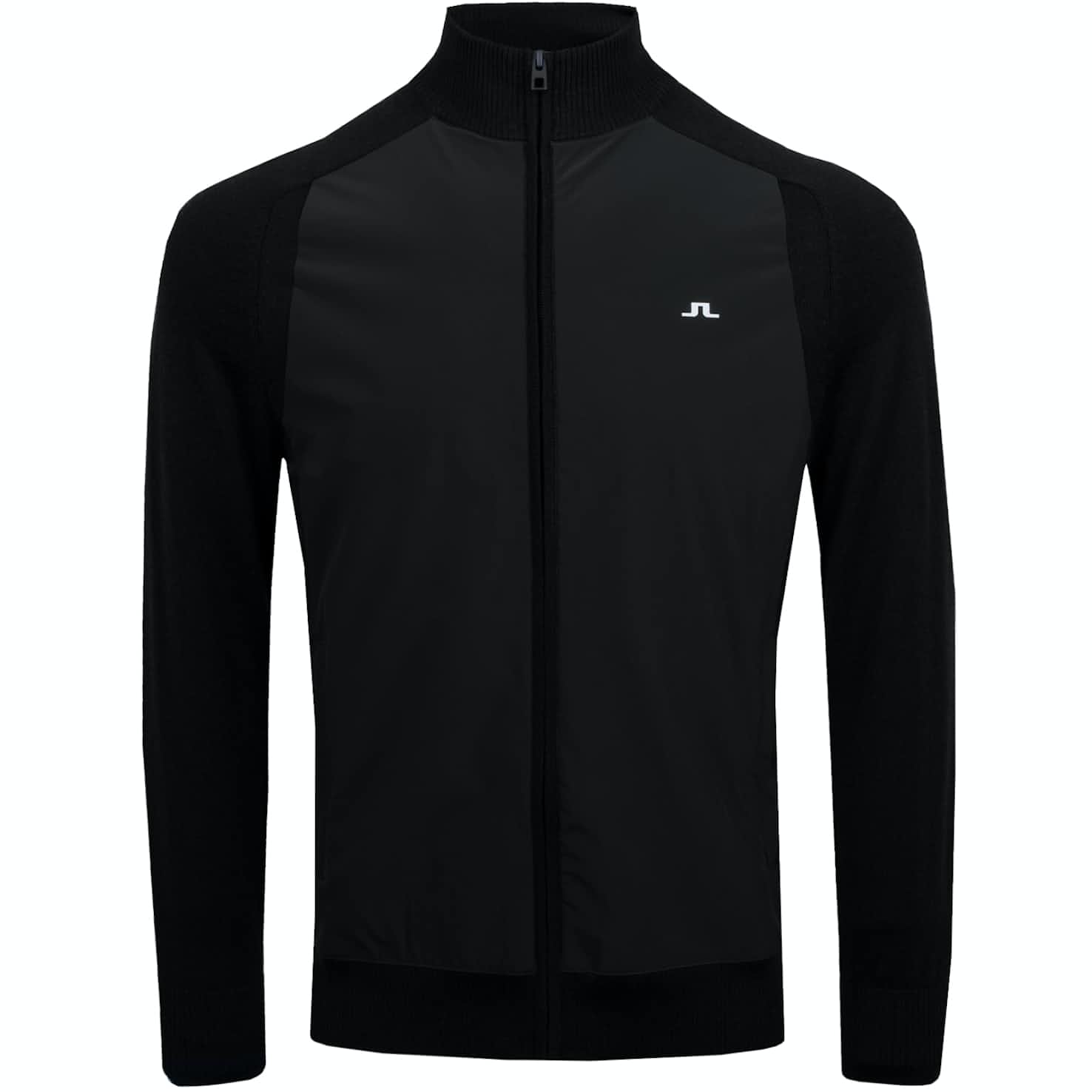Knitted Hybrid Lux Softshell Jacket Black - AW19
