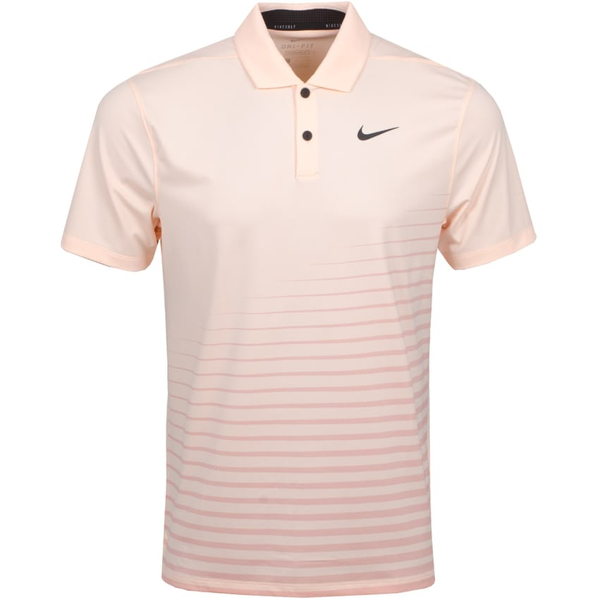 Dry Vapor Stripe Graphic Polo Crimson Tint/Black - Summer 21