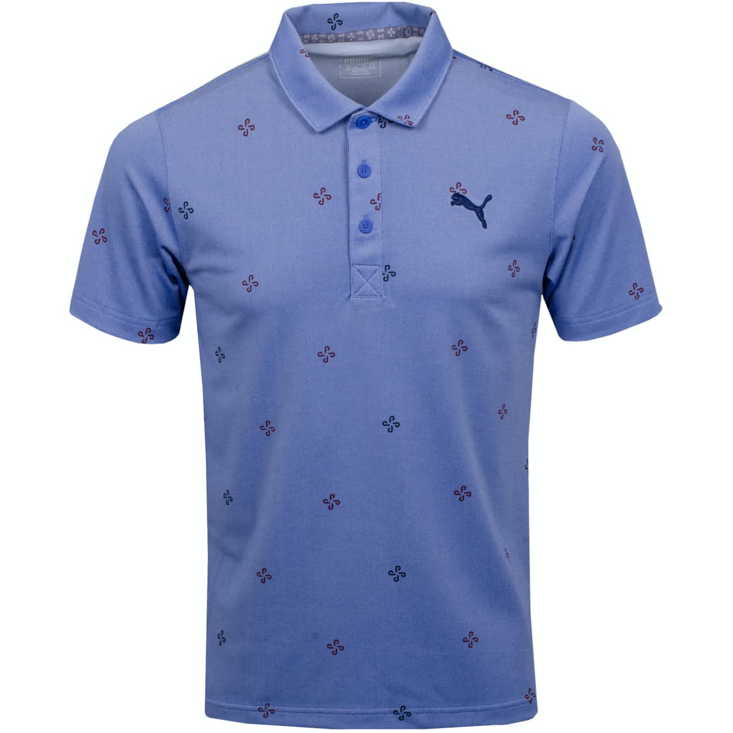 Ditsy Polo Dazzling Blue Heather - AW19