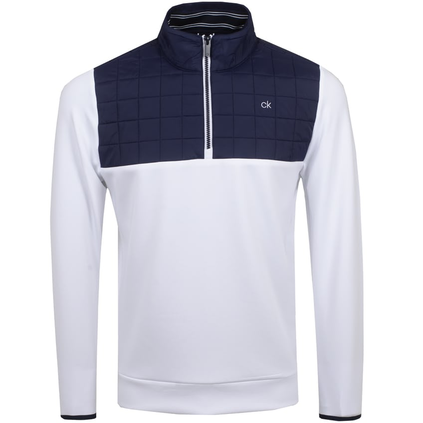 Vardon Hybrid Half Zip Jacket White - SS21