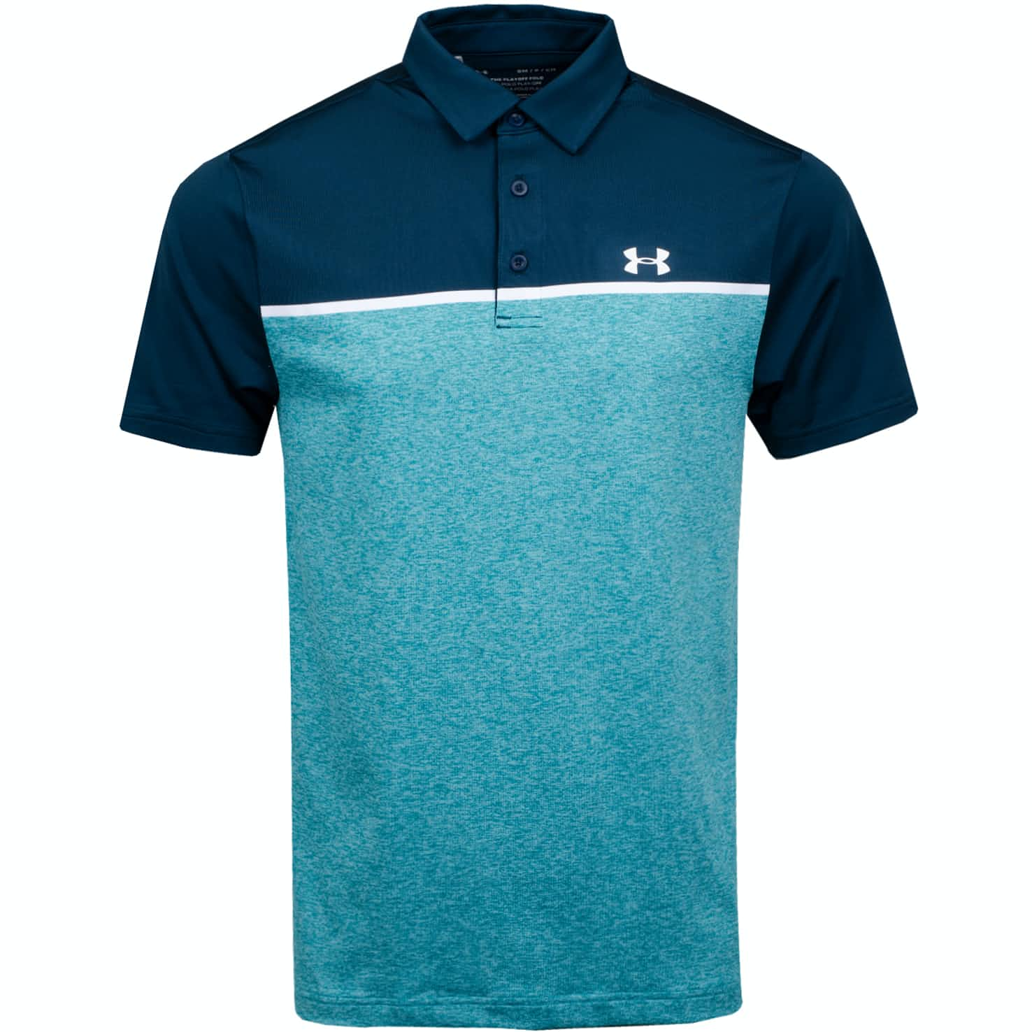 Under Armour Playoff Polo 2.0 Tandem Teal/White - AW19
