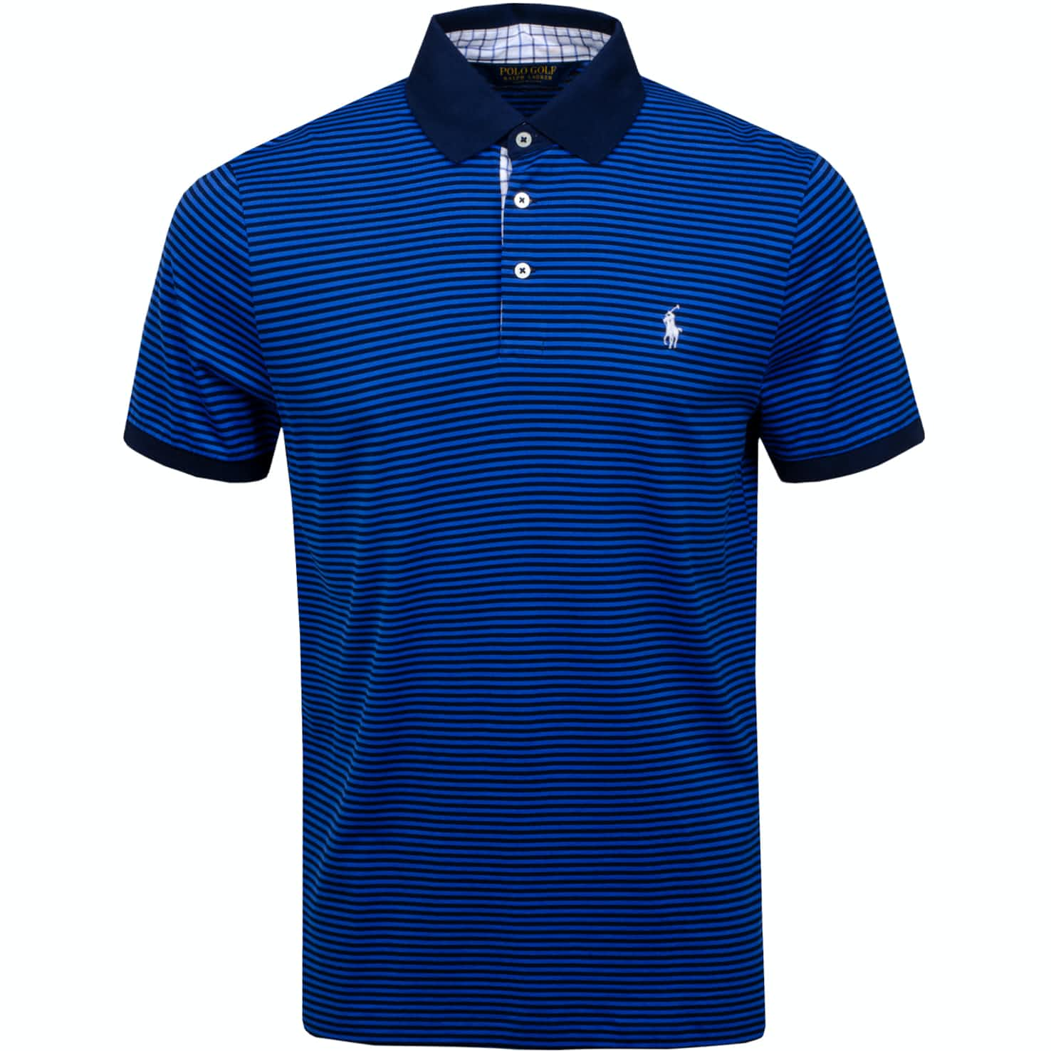 YD Soft Lisle Polo French Navy/New Iris Blue - AW19
