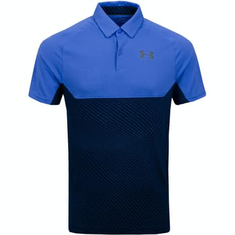 Tour Tips Blocked Polo Tempest/Pitch Grey  - AW19