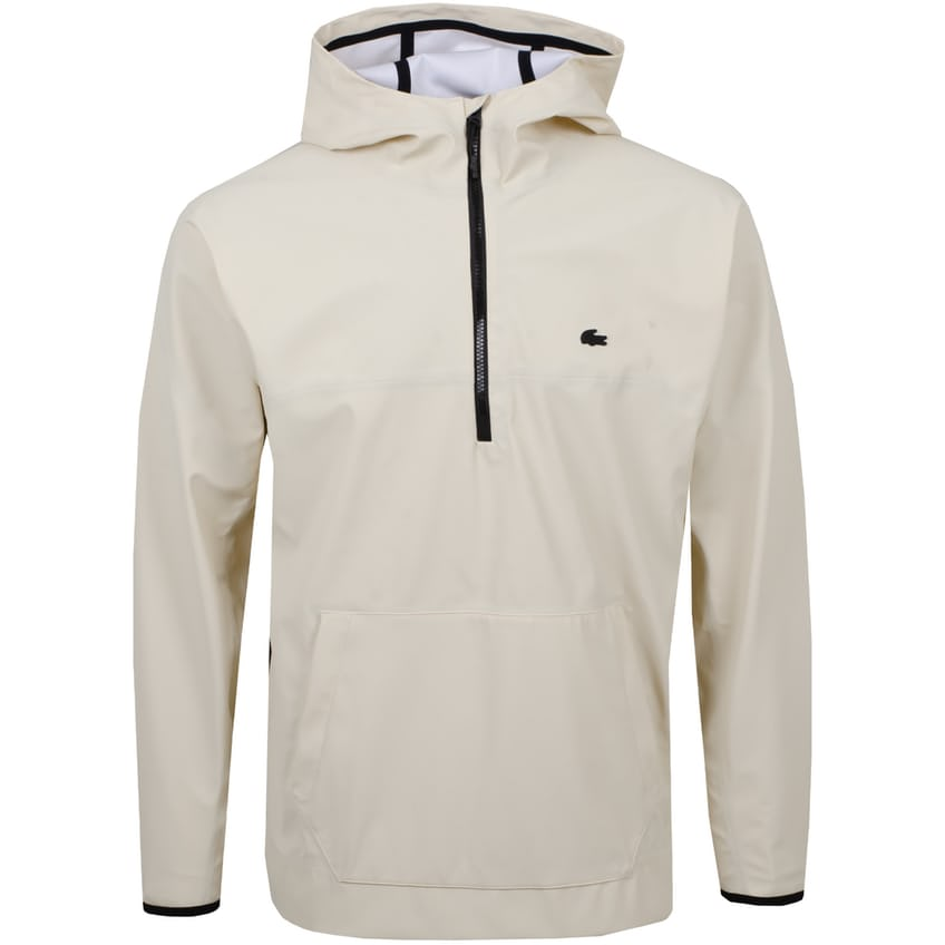 Quarter Zip Hooded Double Face Jacket White - SS21 0