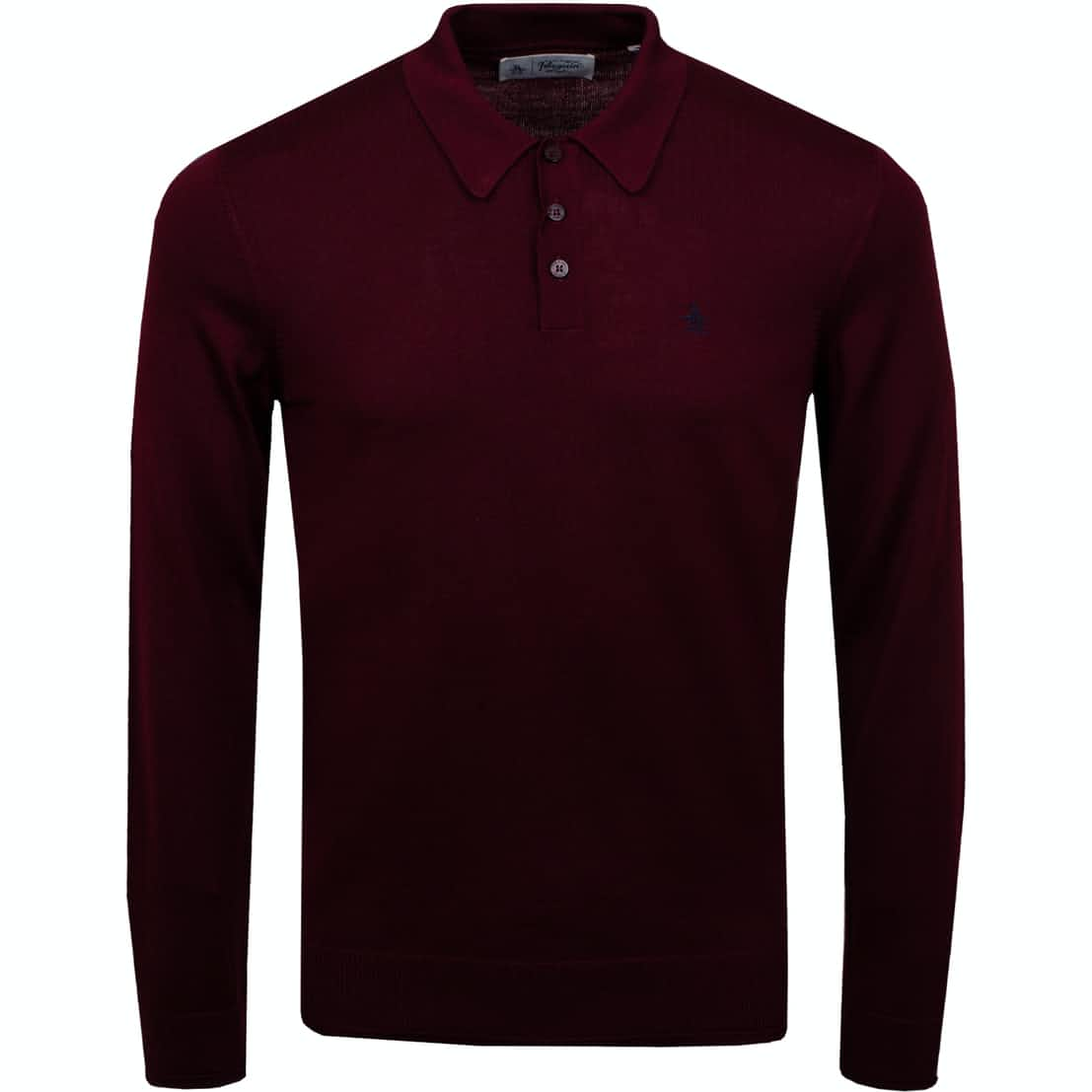 Merino LS Polo Shirt Tawny Port - AW19