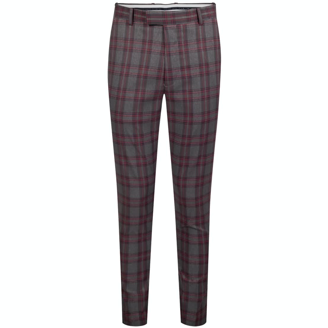 School Boy Trousers Charcoal/Cabernet - AW19
