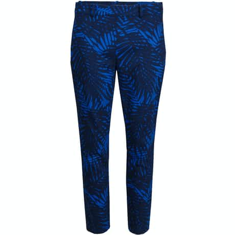 Womens Palm Print Capri French Navy - SS18