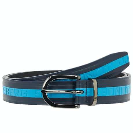 Castor Brushed Leather Belt JL Navy - AW19