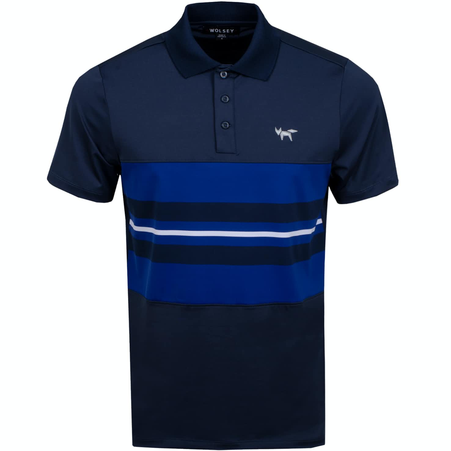 Chest Stripe Polo Total Eclipse - AW19