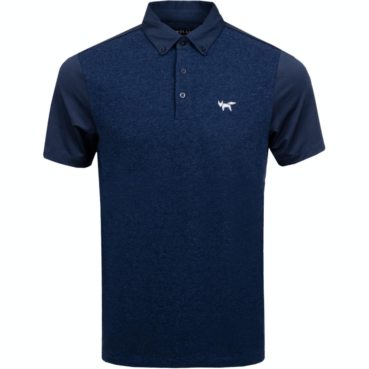 Heathered Jersey Mix Polo Total Eclipse - AW19
