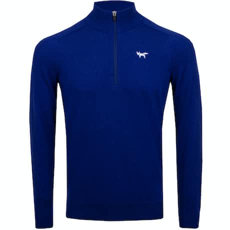 Wolsey Merino Quarter Zip Sweater Electric - AW19