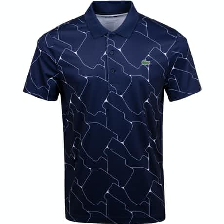 Graphic Technical Jersey Polo Navy - AW19