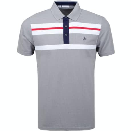 Calvin Klein Golf Anchor Polo Grey Marl/White - AW19