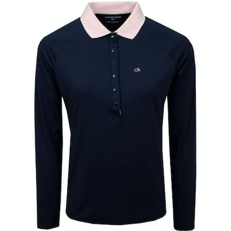Womens Capella LS Polo Navy - AW19