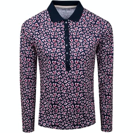 Womens Capella LS Polo Navy/Pink Mist - AW19