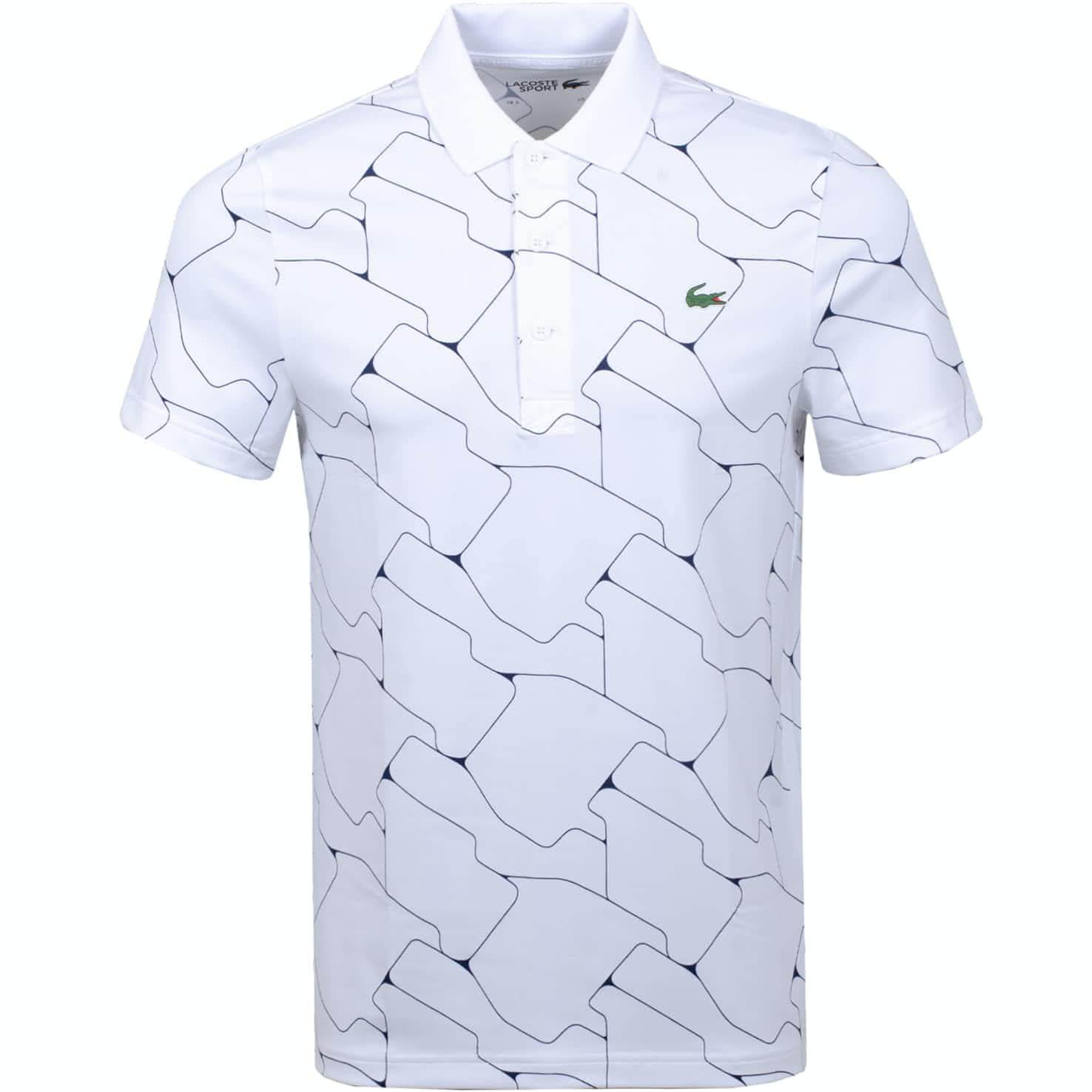 Graphic Technical Jersey Polo White - AW19