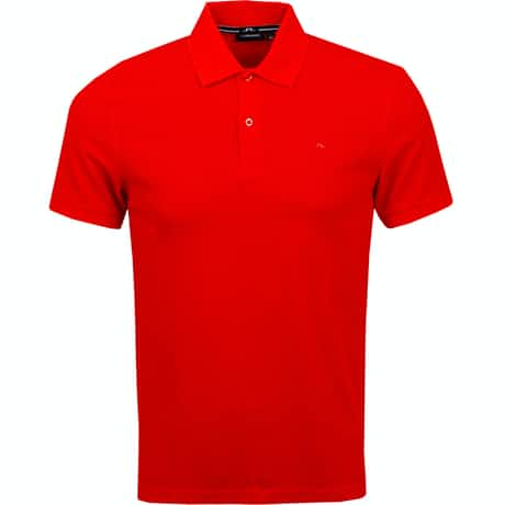 J.Lindeberg Troy Clean Pique Racing Red - AW19