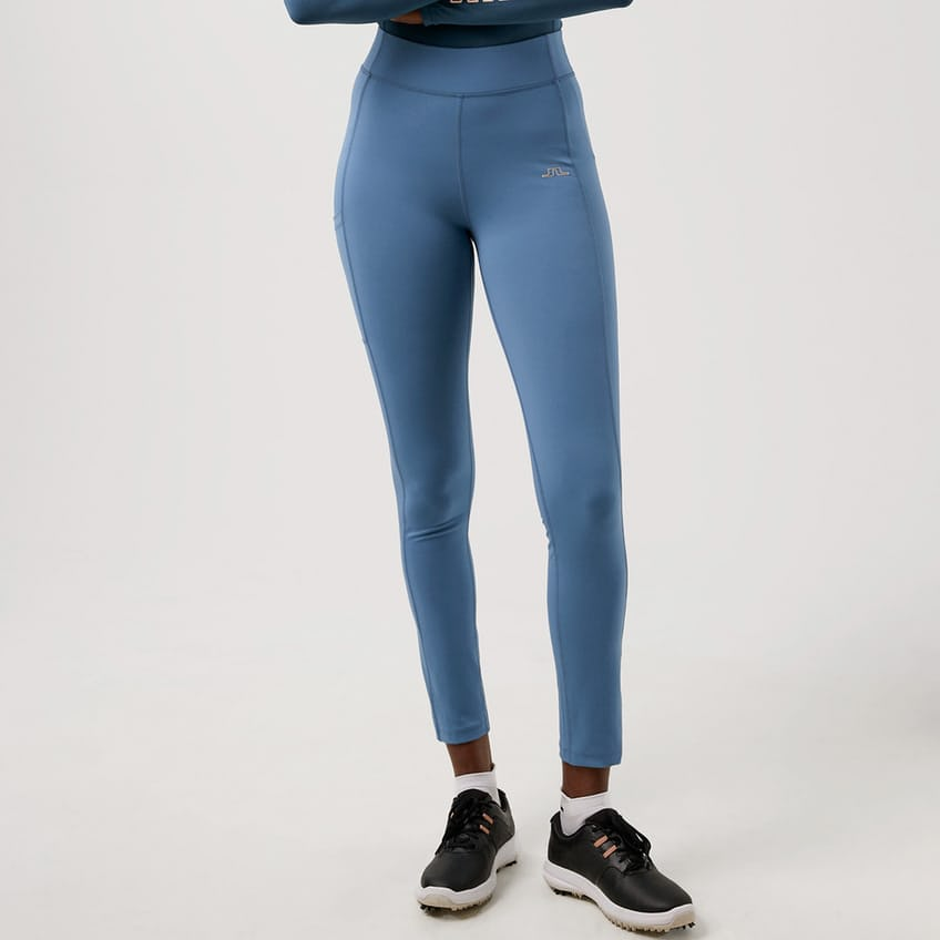 Womens Zena Brushed Lux Sculpt Tights Captain's Blue - AW21 0