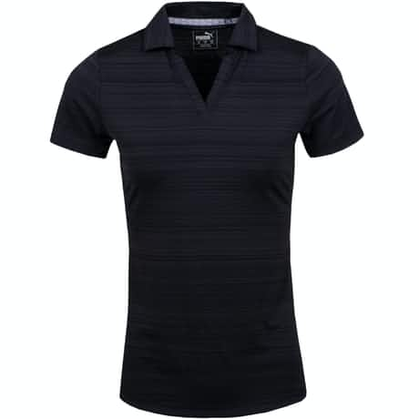 Womens Coastal Polo Black - AW19