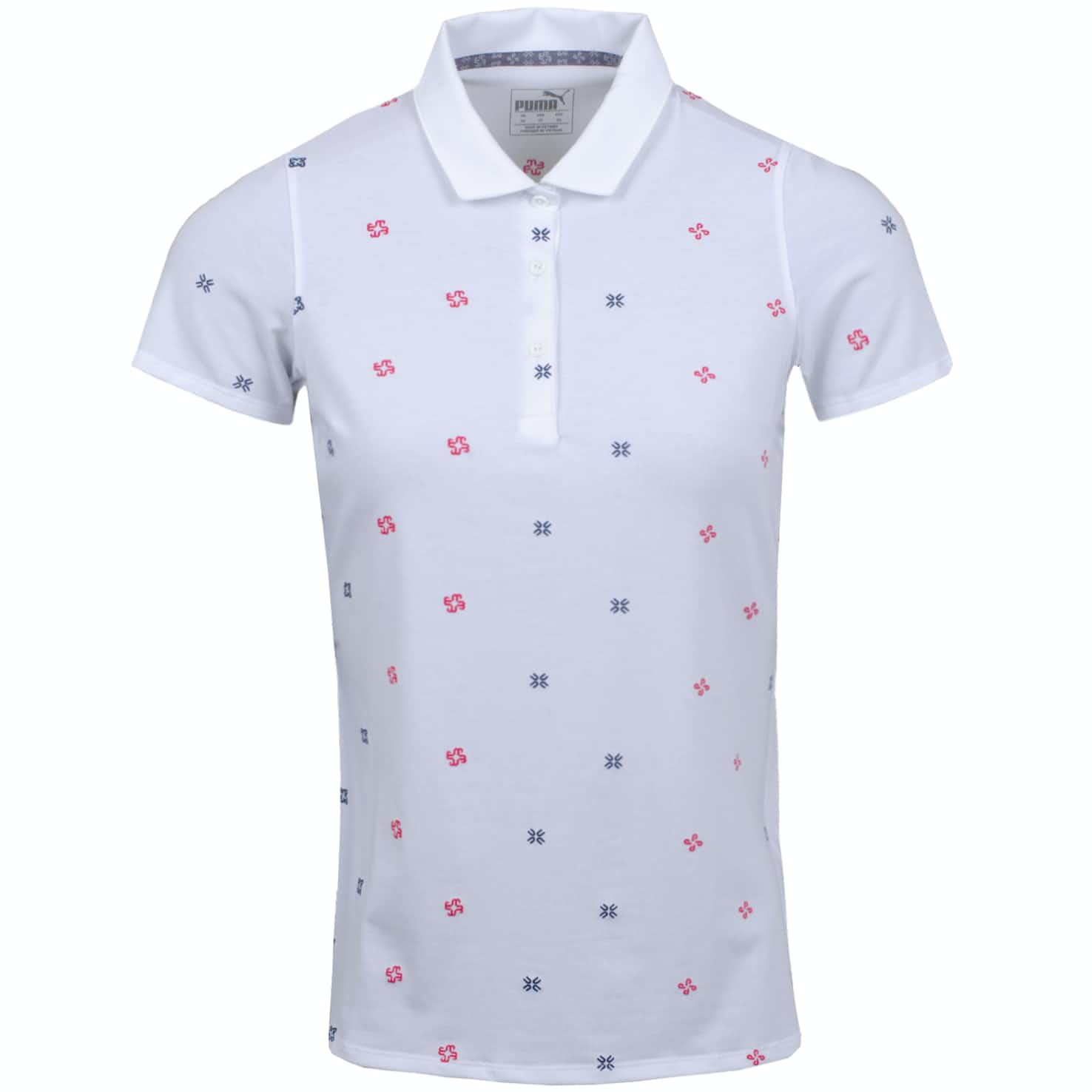 Womens Ditsy Polo Bright White - AW19