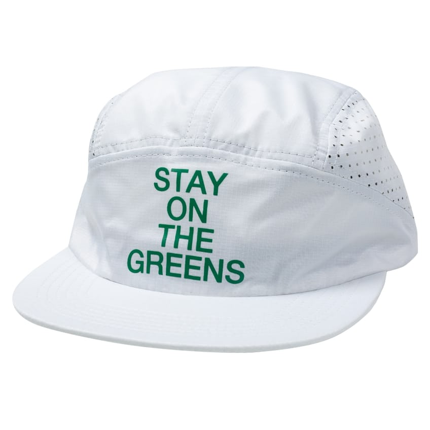 Stay On The Greens Five Panel Cap White - AW21 0