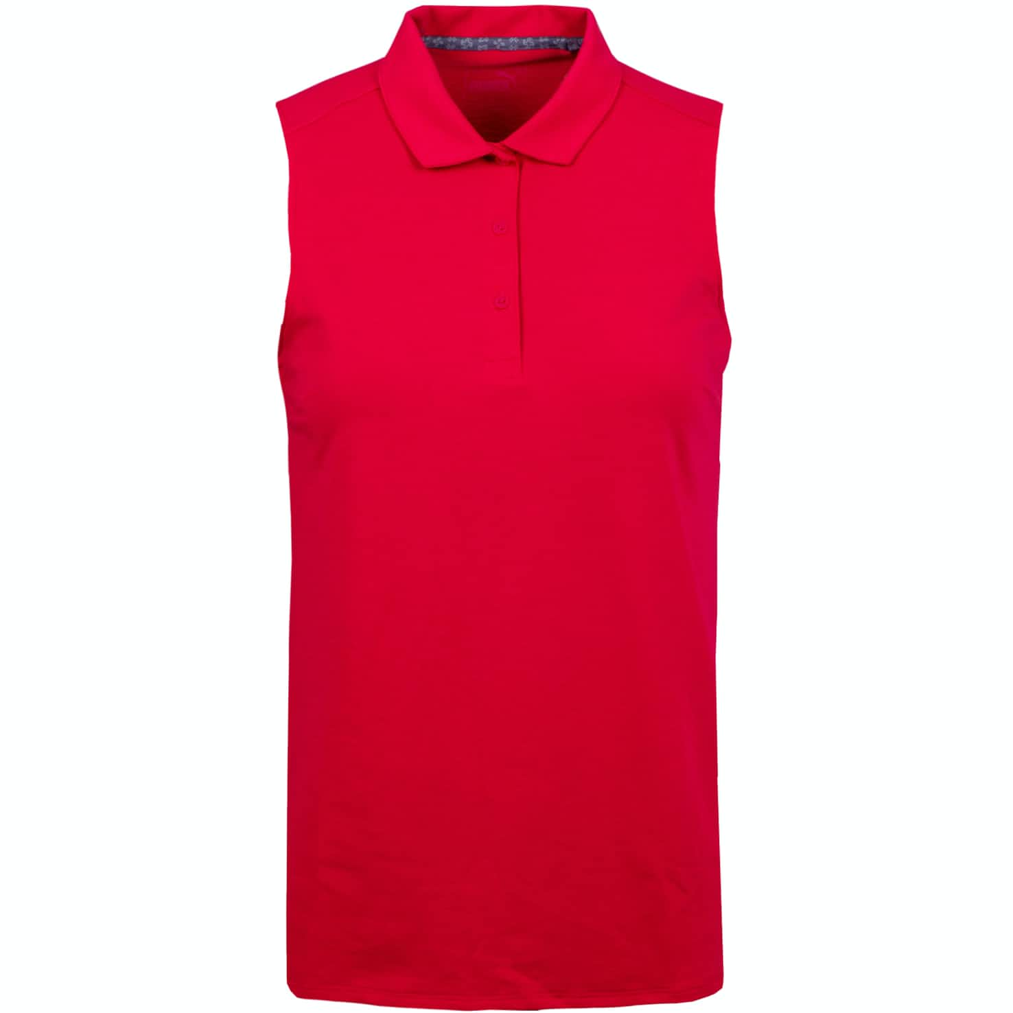 Womens Flow Sleeveless Polo Azalea - AW19