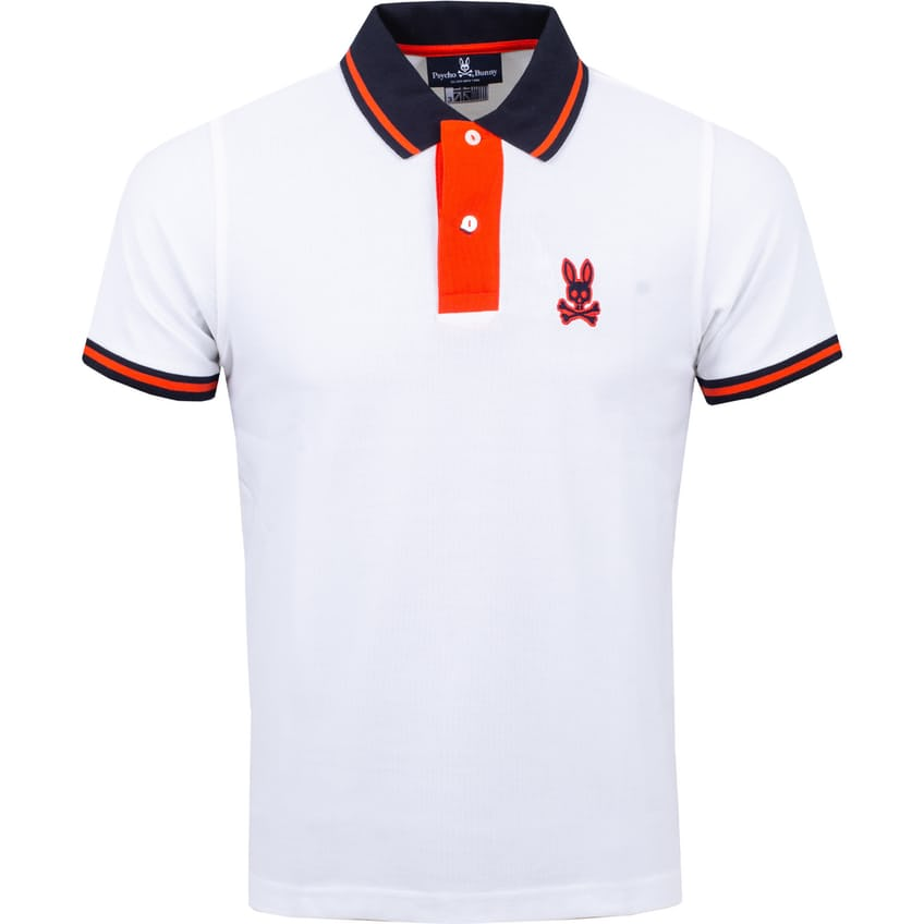 Morland Contrast Placket Polo White - AW21 0
