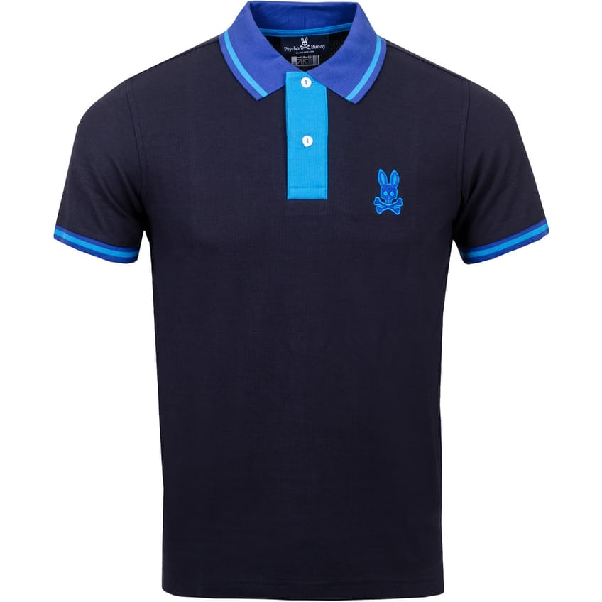 Morland Contrast Placket Polo Navy - AW21 0