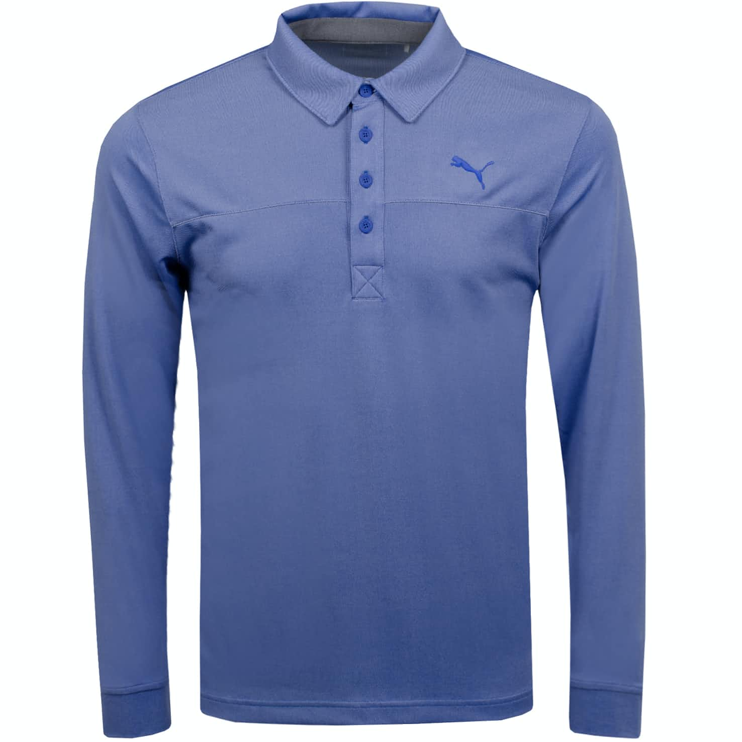 Long Sleeve Polo Dazzling Blue Heather - AW19
