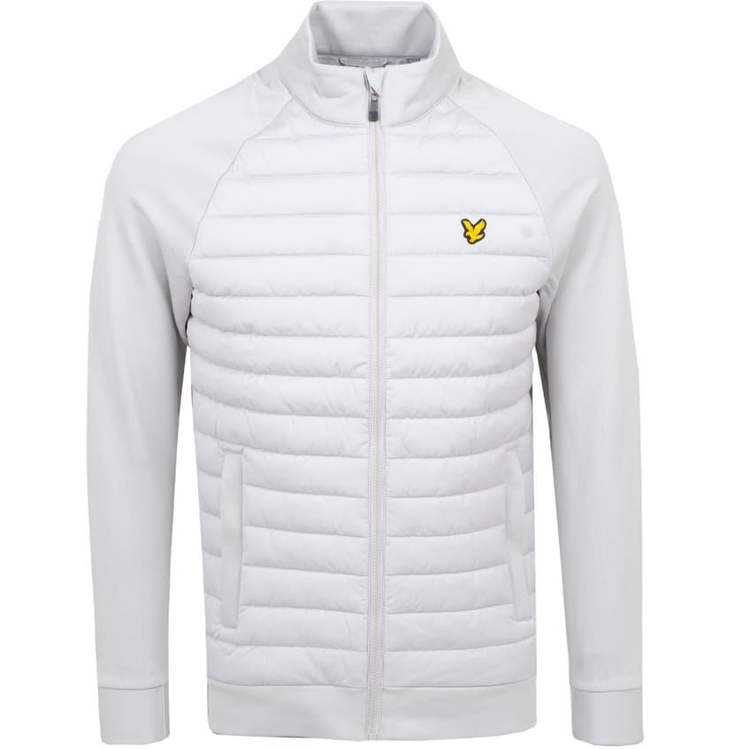 Quilted Front Fleece Back Jacket Pebble - AW21 0