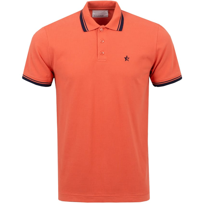 Tipped Play Well Polo Washed Red/Navy - AW21 0